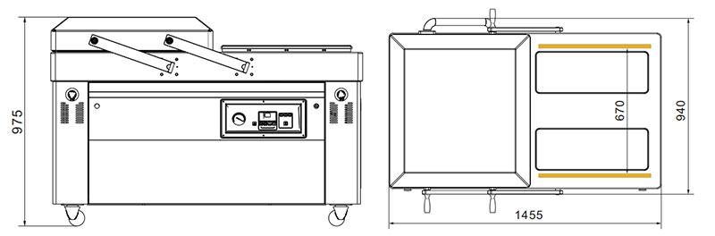Empaquetadora de vacío de doble cámara (flip automático) DZ-6002SAuto-2-Sincropack