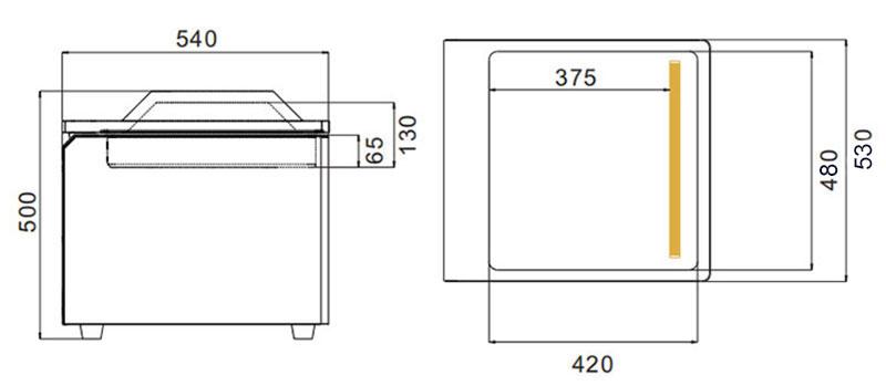 Máquina automática de envasado al vacío DZ-450-ZT-sincropack