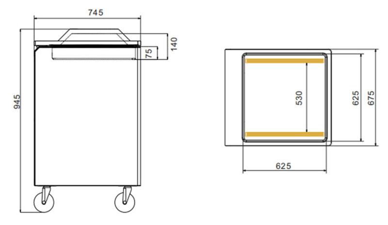 Máquina de embalaje de vacío de cámara simple DZ600-1