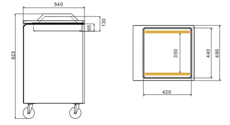 Máquina de embalaje del vacío de la sola cámara de DZ400-2