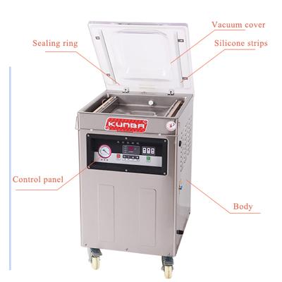 Máquina de embalaje del vacío de la sola cámara de DZ400-9