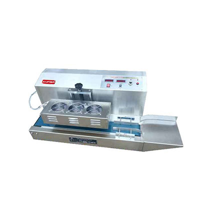Máquina de sellado por inducción continua. GLF-900-sincropack-Barcelona