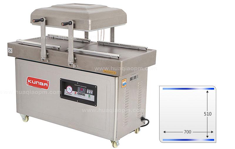 Sellador de vacío de doble cámara o empaquetador DZ-700 -2SA-1
