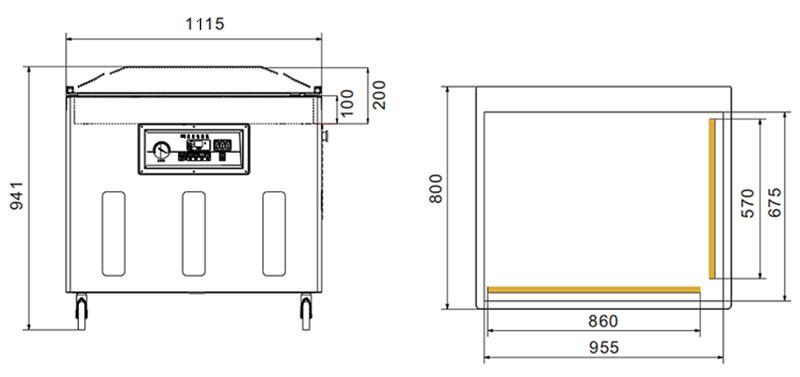 empaquetador de vacío DZ-11002L