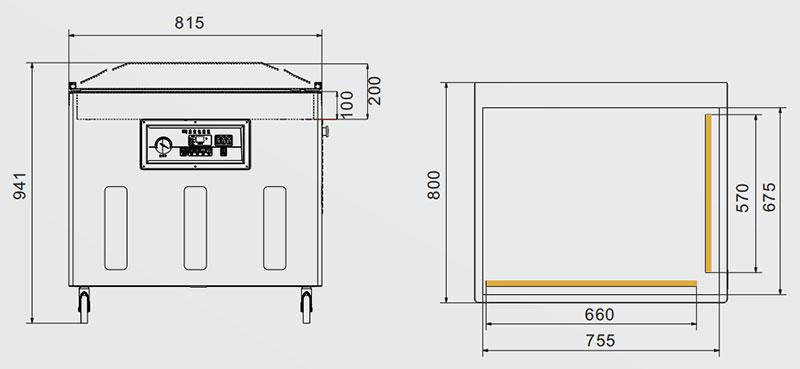 empaquetador de vacío DZ-8002L-1